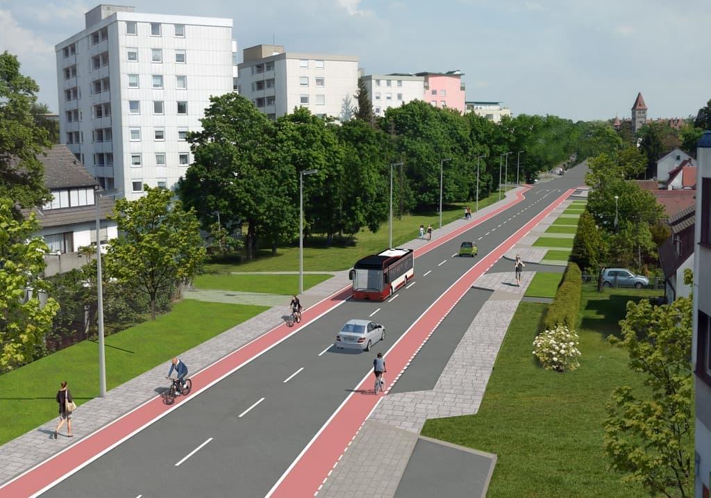 Umbau der Gebersdorfer Straße